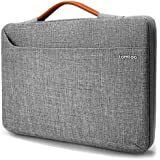 tomtoc 15-15.4 Inch 360° Protective Laptop Sleeve for 15 inch Microsoft Surface Book 2 & Dell XPS 15 & 15.4 Inch Old MacBook Pro Retina, Handle & Accessory Pocket Zipper Bag, Gray