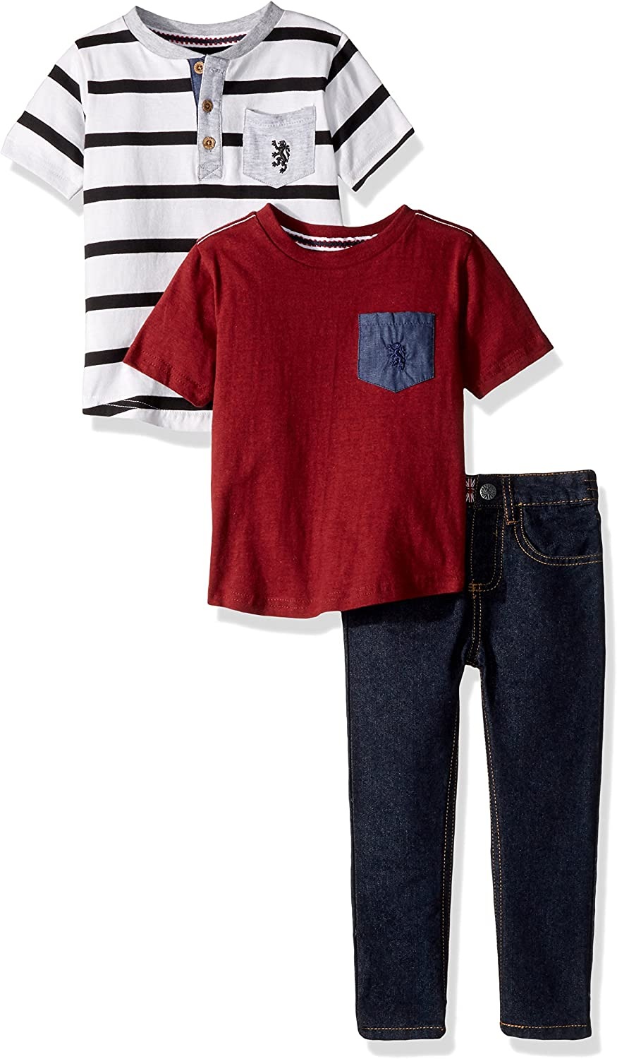 English Laundry Boys' T-Shirt and Pant 3 Piece Set (More Styles Available)