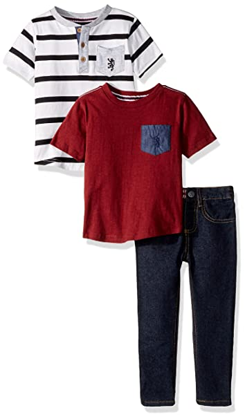 42ebd24a52c English Laundry Toddler Boys' T-Shirt and Pant 3 Piece Set (More Styles