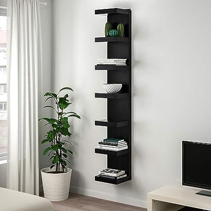 Ikea New Lack - Estantería de pared, color negro