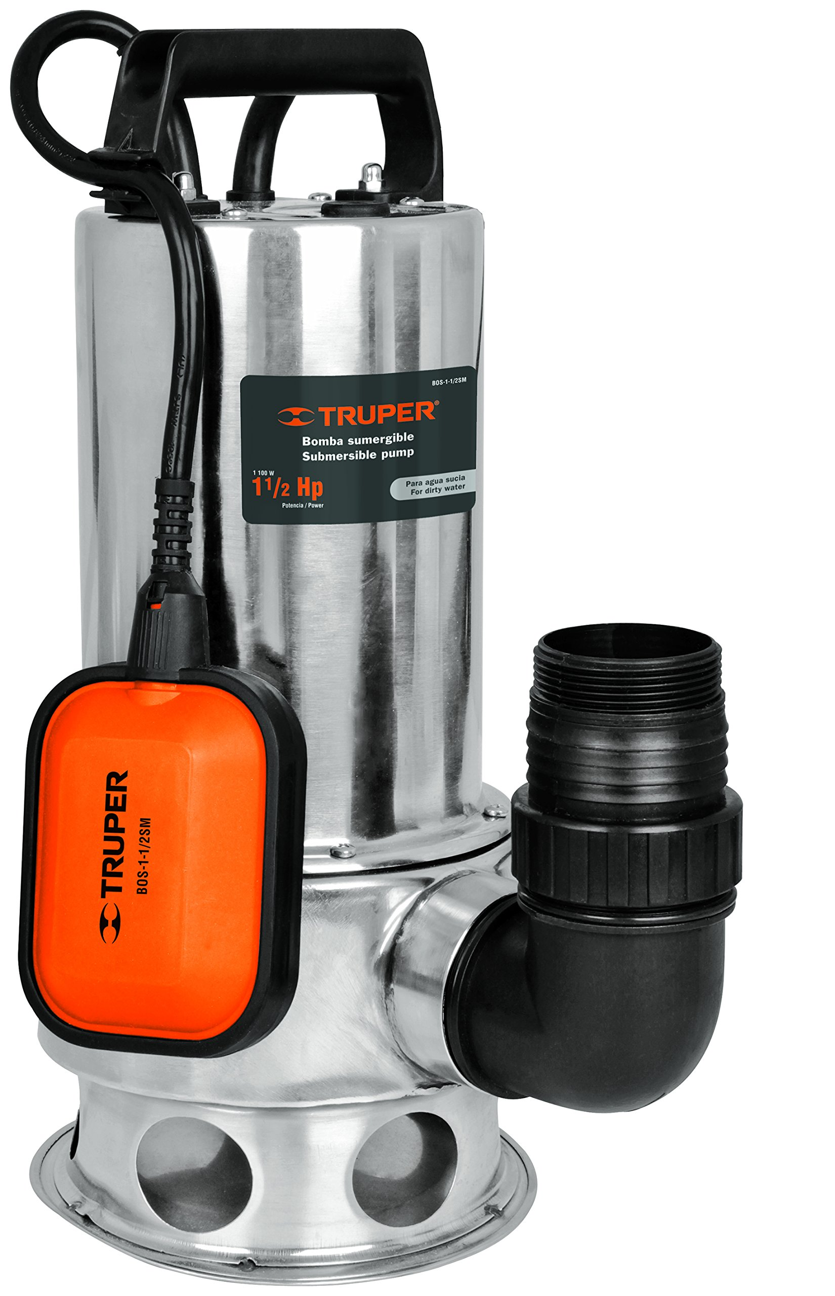 TRUPER BOS-1-1/2SM Heavy Duty Submersible Dirty Water Pumps 1 1/2Hp (1100 w)