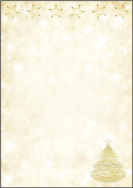 SIGEL DP083 Papel navideño, árbol y estrellas de Navidad, 21 x 29 ...