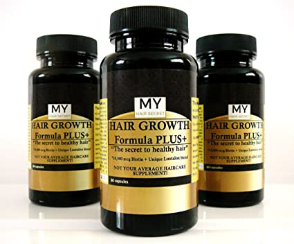 Crecimiento del Cabello fórmula + lustalox + 10.000 Mcg Biotina por mi pelo secreto .-