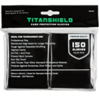 TitanShield (150 Sleeves / Black Standard Size Board Game Trading Card Sleeves Deck Protector for Magic The Gathering…