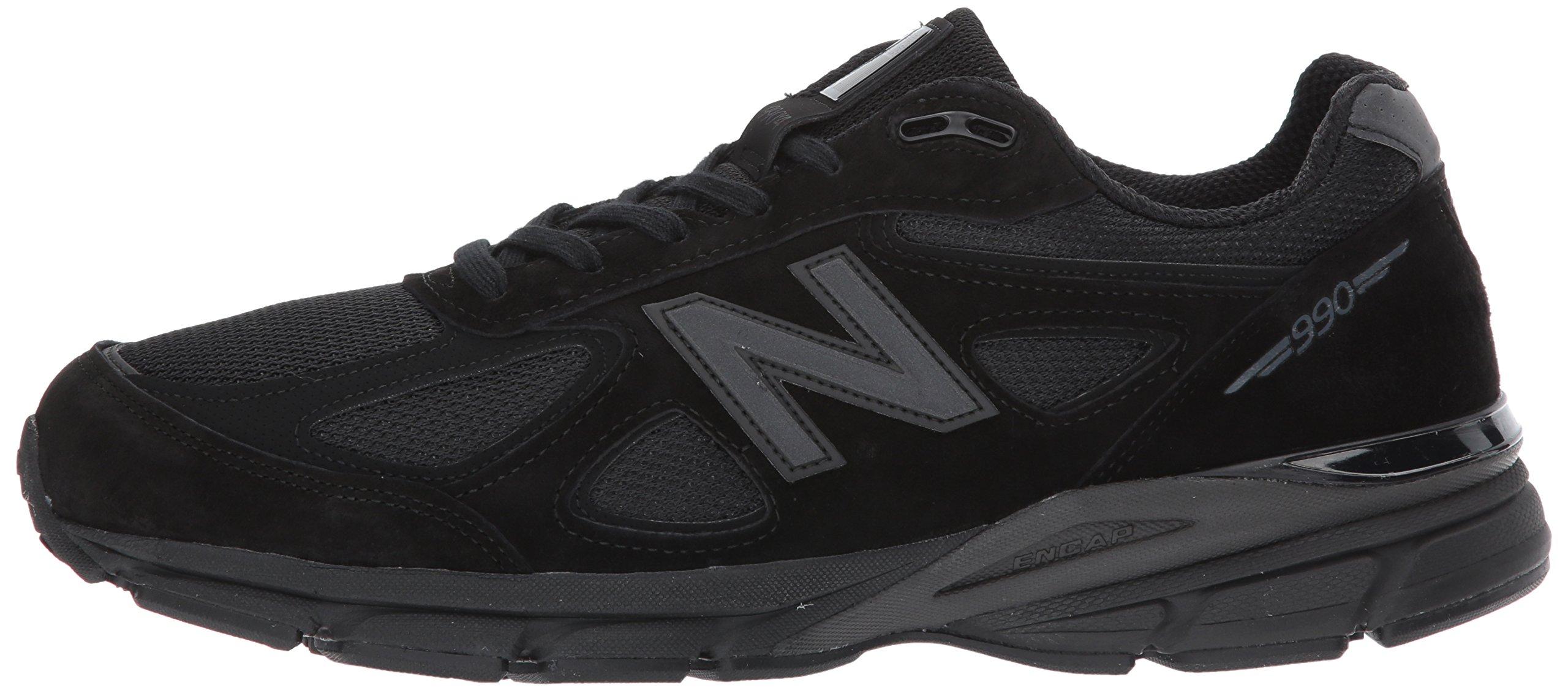 New Balance Men's 990V4 Running Shoe, Black/Black, 11 2E US by New Balance (Image #5)