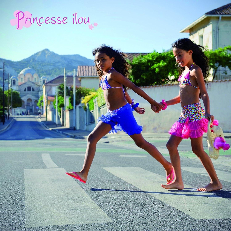Princesse Ilou Pareo Bambino Rosa in Tulle a Volante