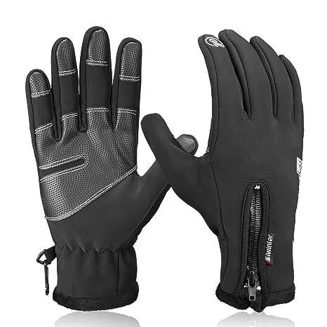 Clothing Opard Winter Touch Screen Gloves Windproof Waterproof Anti-slip Warm Fleece Cycling Gloves Full Finger Bike Gloves For Men & Women Autumn Winter