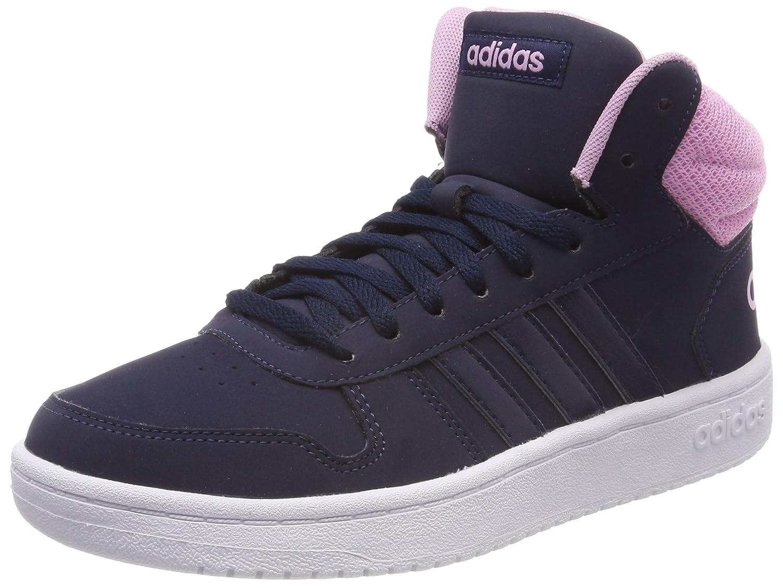 adidas Hoops 2.0 Mid, Chaussures de Fitness Femme, Bleu (Maruni/Maruni/Ftwbla 000), 41 1/3 EU
