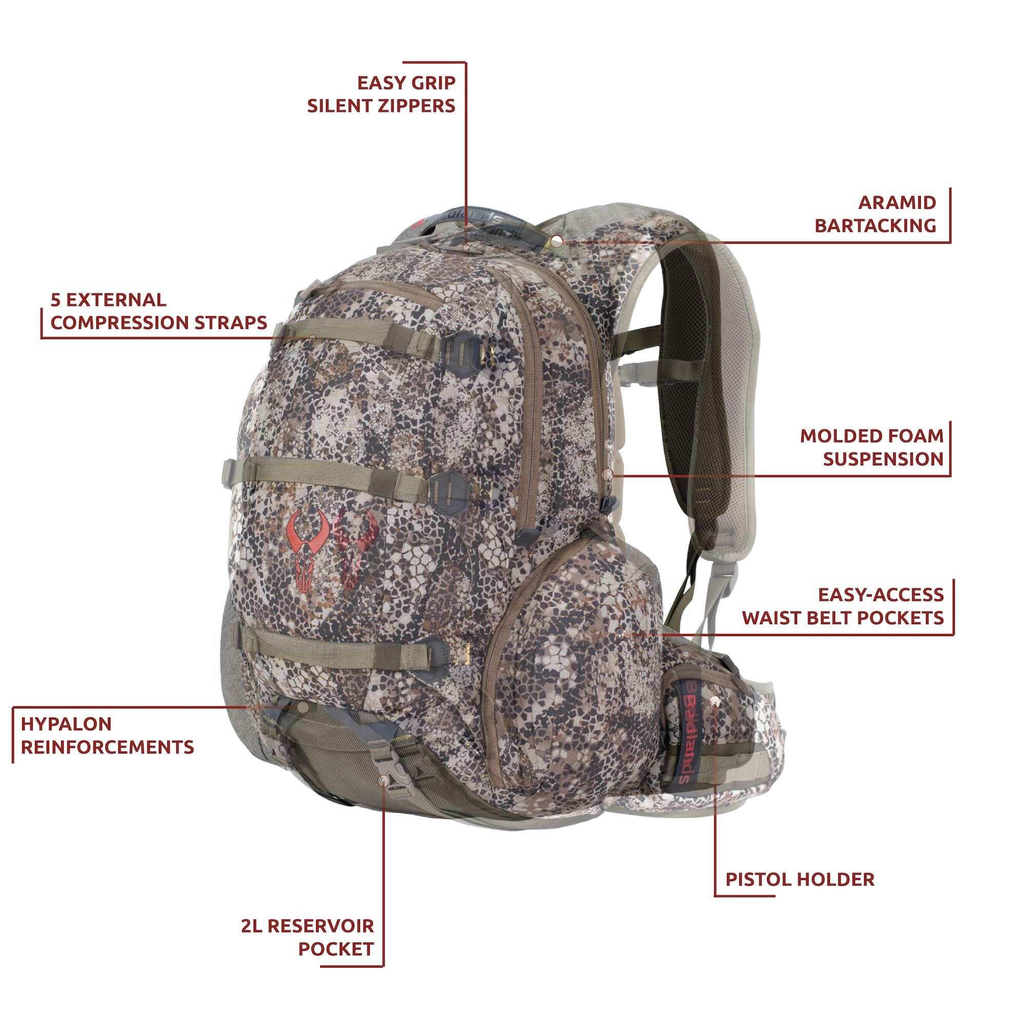 Badlands Superday Hunting Backpack - Bow, Rifle, and Pistol Compatible, Solid by Badlands (Image #3)