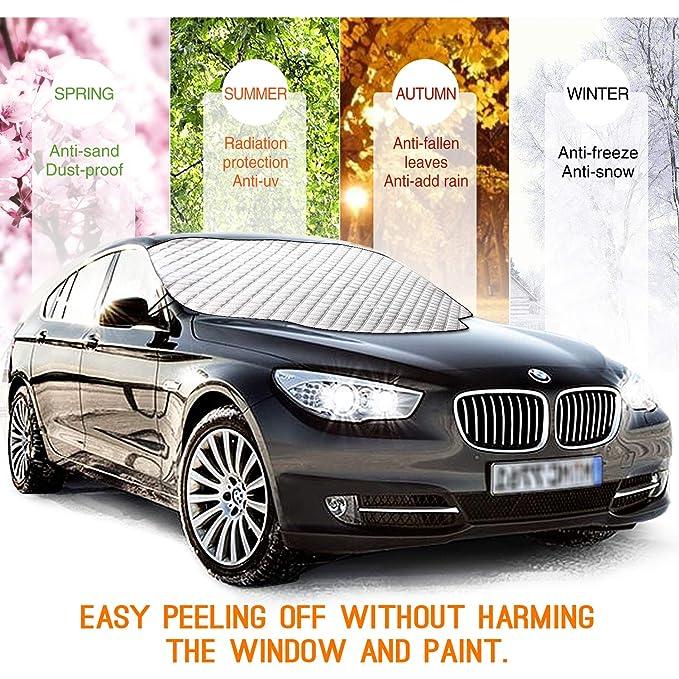 Amazon.es: isimsus ismagnet Cover Parabrisas, winterabdeckung Auto scheibenabdeckung frostabdeckung magnético plegable desmontable Hielo - Protector de ...
