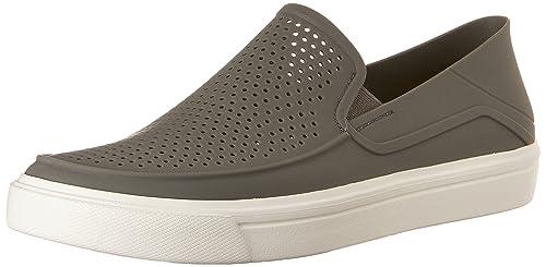321b99868 crocs Men s Citilane Roka Slip-On M Smoke and White Sneakers-M10 (202363