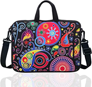 "15.6-Inch Laptop Shoulder Sleeve Bag Case With Handle For 15 15.6"" Acer Dell Hp classic colourful"