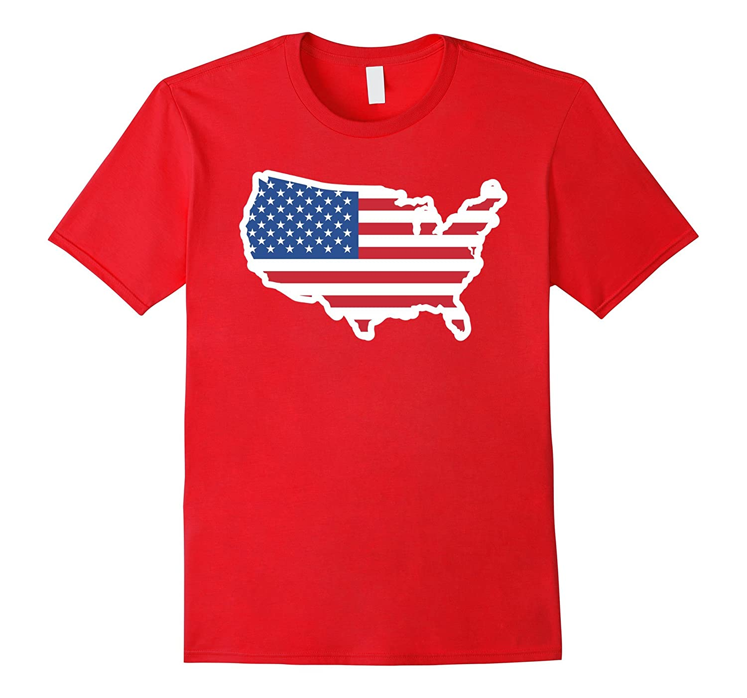 USA Map Flag T-Shirt United States of America-CL – Colamaga