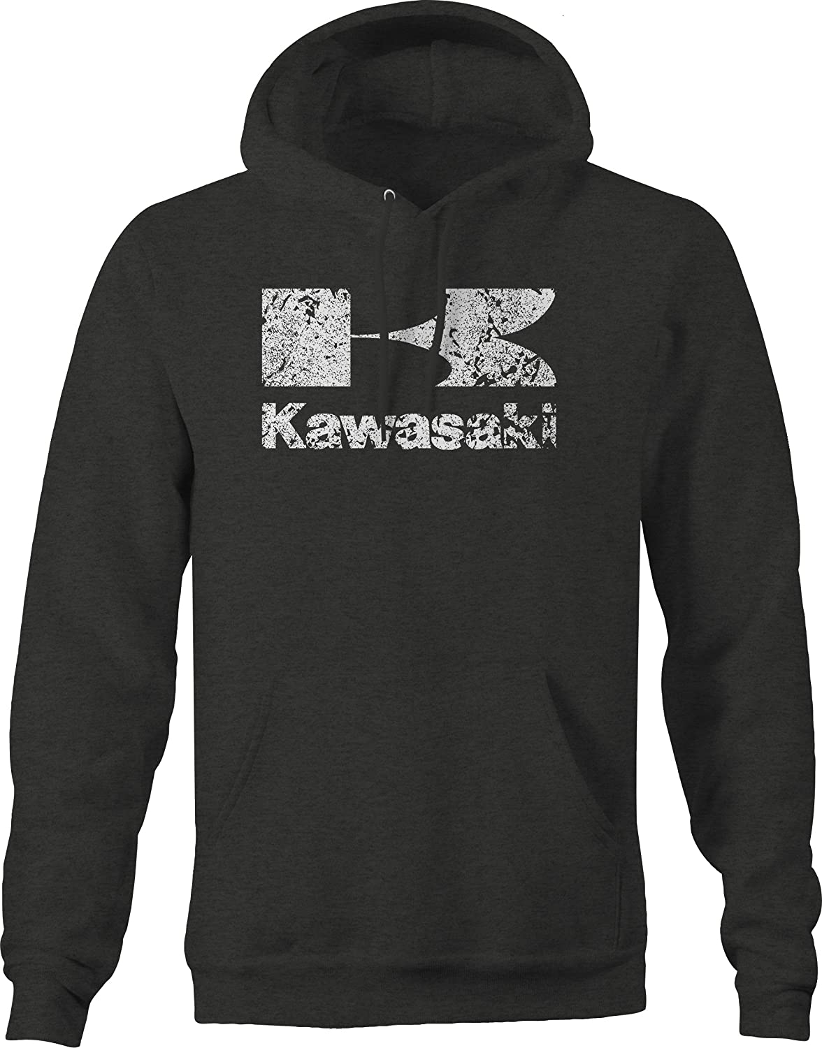 OS Gear Distressed Kawasaki Mens Motorcycle Sweatshirt