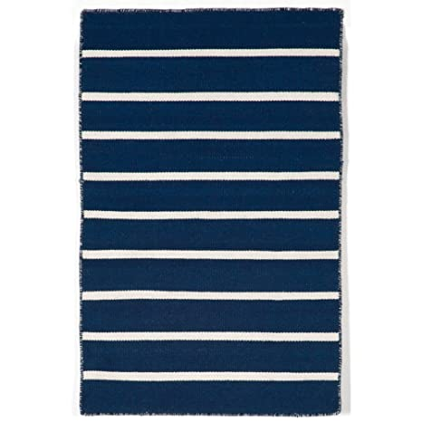 Amazoncom Area Rugs Soho Stripe Indoor Outdoor Rug Navy Blue