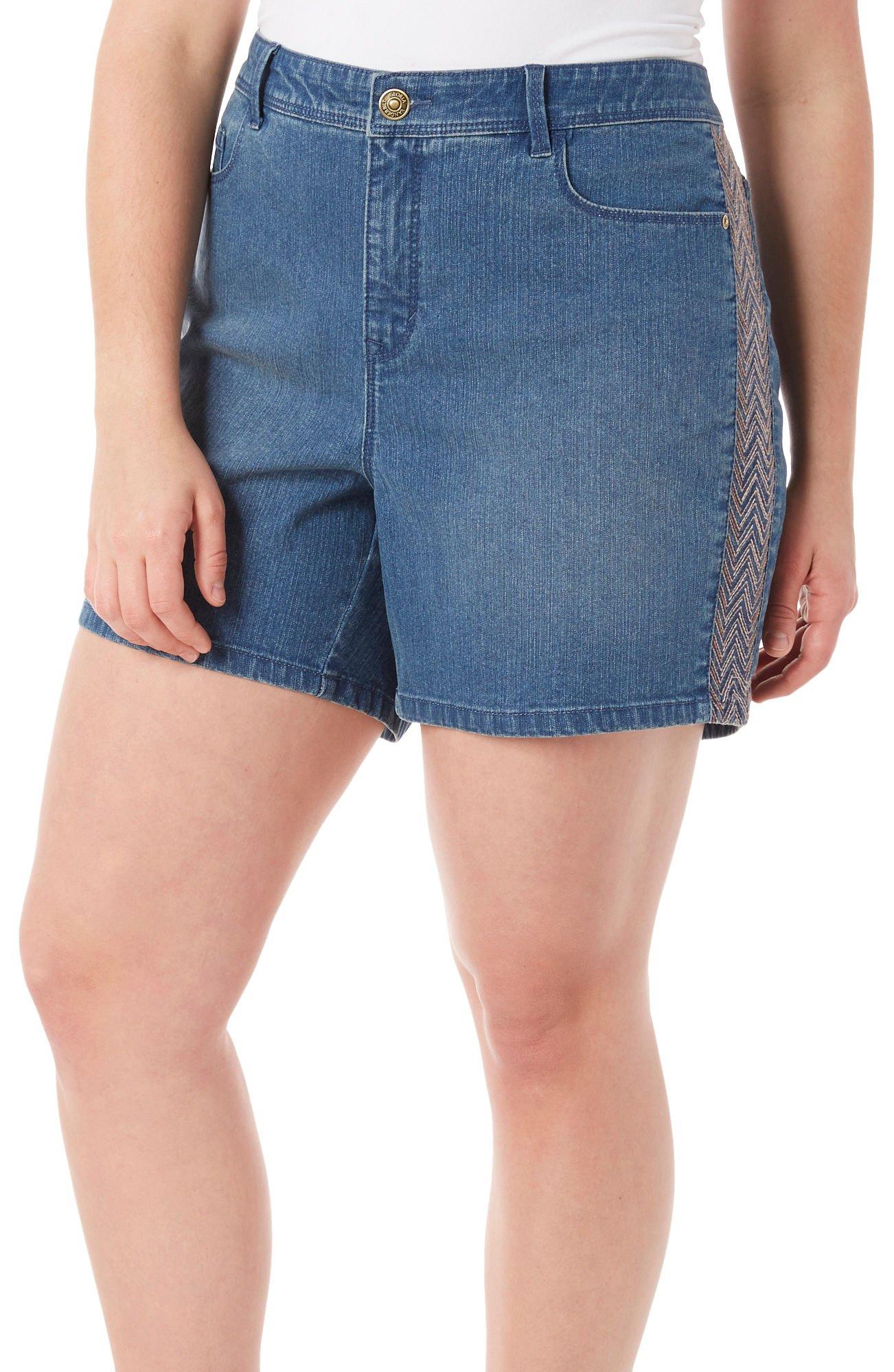 Gloria Vanderbilt Danica Blue Jean Sundance Embellished Plus Size Short New (22 Plus)