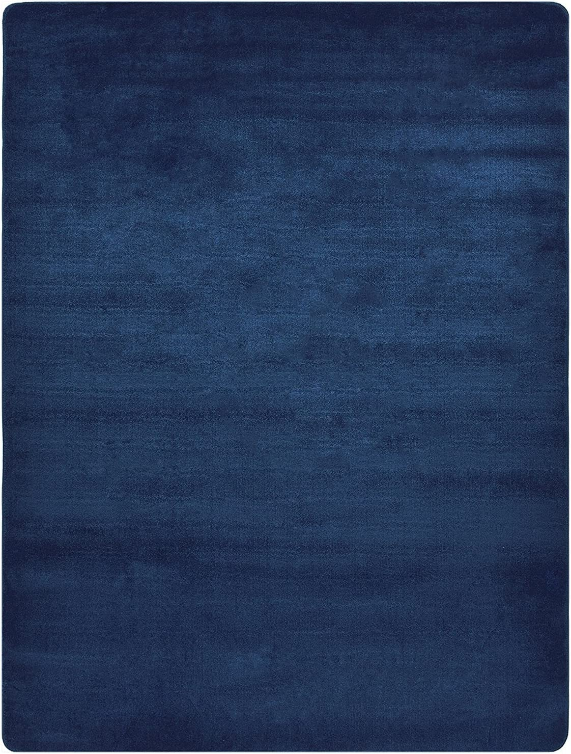 Euro Collection Solid Color Area Rug Rugs Slip Skid Resistant Rubber Backing Machine Washable More Color Options (Navy Blue, 3'3