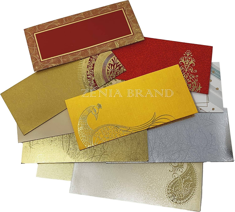 Amazon Com Zenia Invitation Gift Envelopes Pack Of 10 Assorted