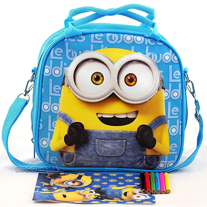 MINIONS Insulated 3D Lunch Bag Box And Drink Sport Water Bottle Set