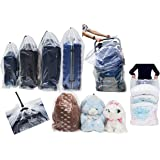 Dust Cover Big Plastic Bags Multi-Purpost for Storage Drawstring Bag Set for Keeping Luggage, Big Dolls, Blankets…