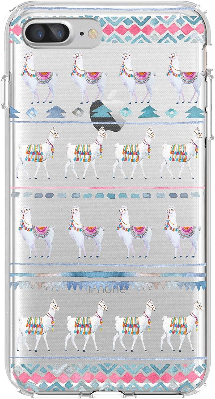 Shark Compatible Cute Animial Alpaca Llama patternn Clear Back case for iPhone XR