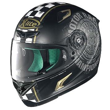 X-Lite X de 802rr Cafe Club Integral Casco Moto Ligero de Fibra – Negro