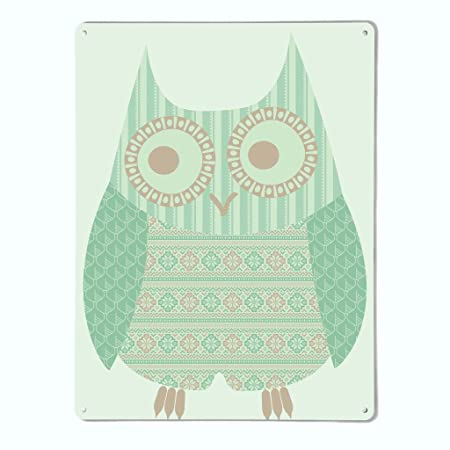 huge selection of online for sale top fashion The Metal Art Company | Fair Isle Owl Design (Turquoise ...