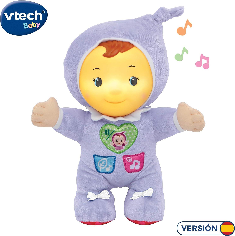 VTech Estela luz de Cuna, Suave Peluche Infantil Que Brilla en la Oscuridad para calmar y relajar al bebé a la Hora de conciliar el sueño, más de 70 Canciones, Sonidos y tiernas melodías