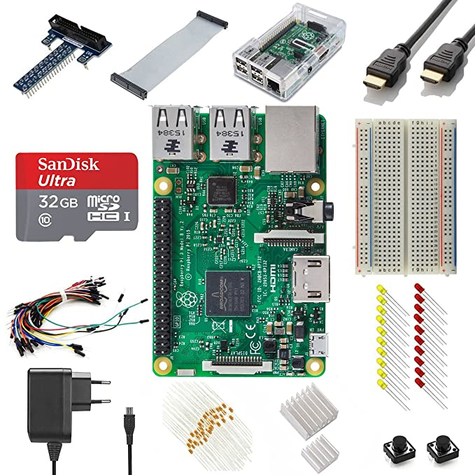 31 opinioni per Vilros Raspberry Pi 3 Ultimate Starter Kit--EU Plug Edition