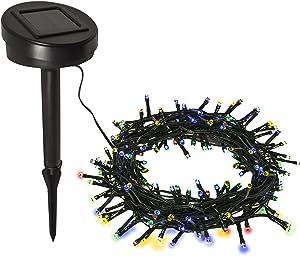 ALEKO 4X200LEDMC Solar Powered Christmas Holiday String Lights Lawn Garden Wedding Party 200 LED 68 Feet Long Multi Colored Lot of 4