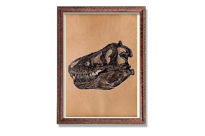 Amazon.com: Dinosaur art print Vintage skull poster Skull ...