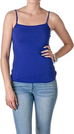 قميص نسائي بدون أكمام كاجوال أساسي من هوليوود ستار مع أشرطة قابلة للتعديل