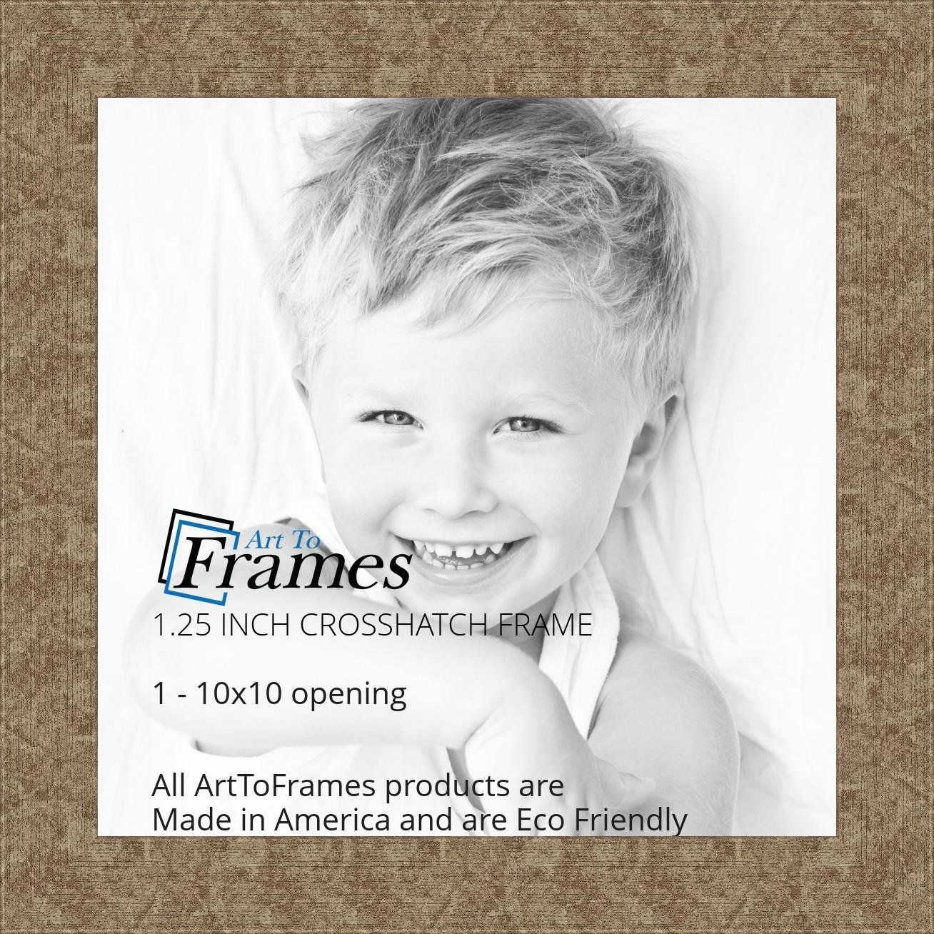 Amazon.com - ArtToFrames 10x10 inch Crosshatch Silver Frame Picture ...