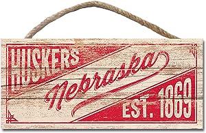NCAA Legacy Nebraska Cornhuskers Wood Plank Hanging Sign 10x5, One Size, Wood
