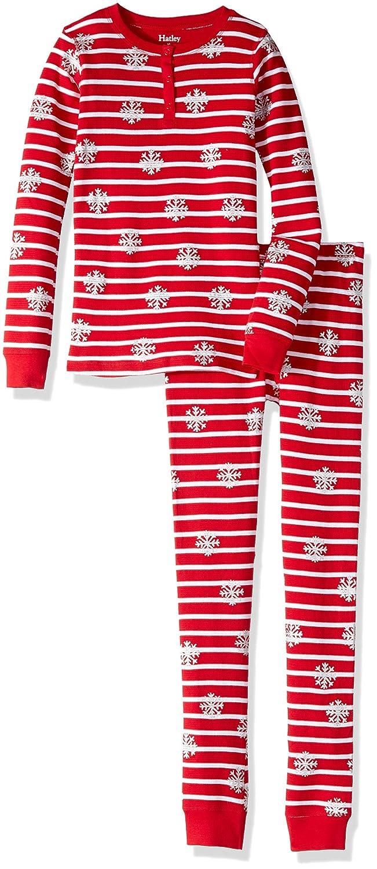 Hatley Girls Organic Cotton Long Sleeve Waffle Applique Pajama Sets