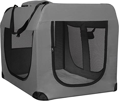 Pet Dog Cat Crate Soft Sided Pet Carrier Kennel Travel  Portable Bag Cage House