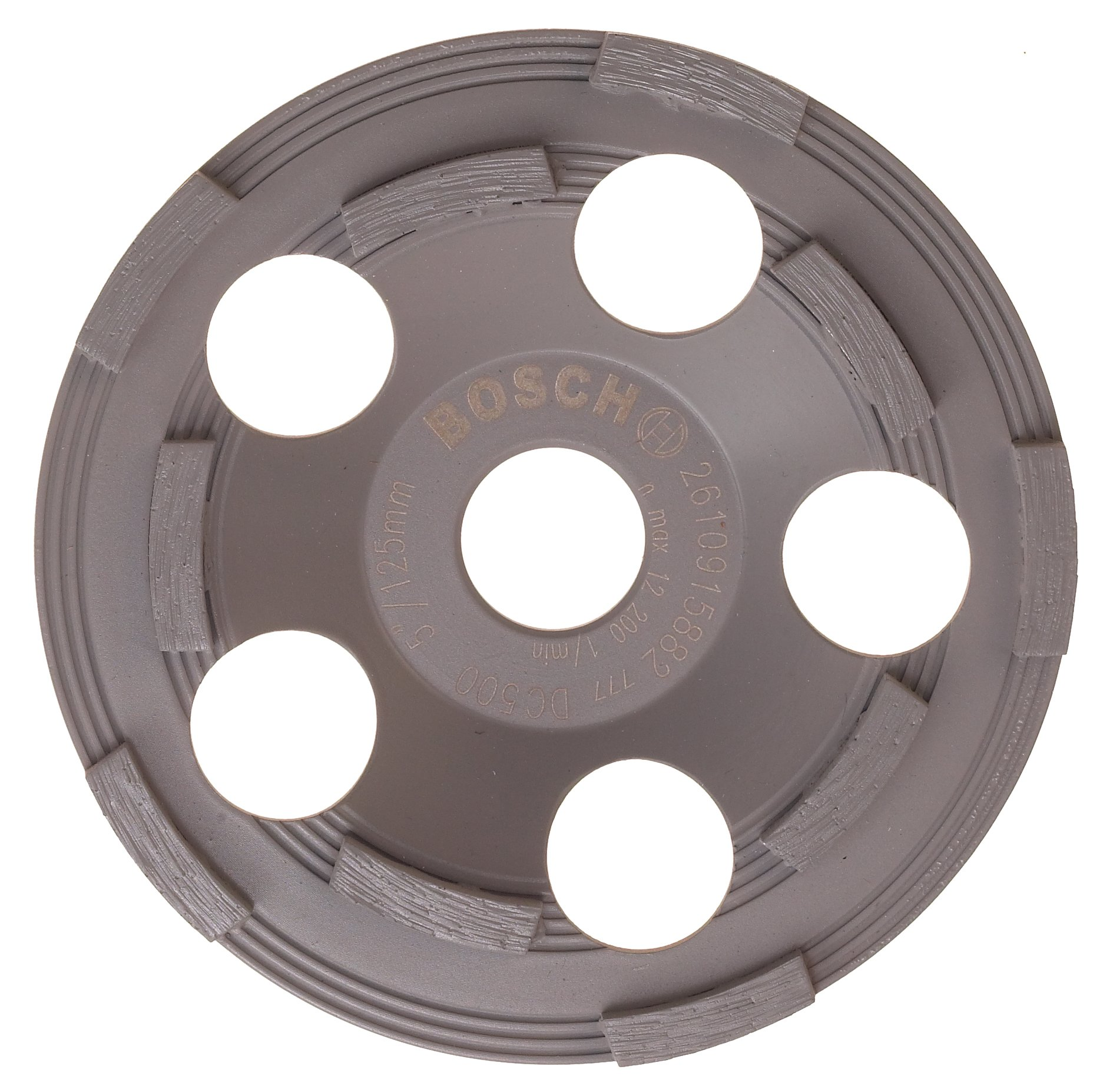 Bosch DC500 5-Inch Diamond Cup Grinding Wheel for Protective Coatings by Bosch