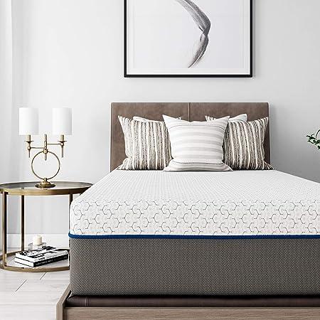 Amazon Com Signature Sleep Flex 12 Inch Charcoal Gel Memory Foam