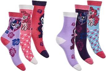 MLP My Little Pony - Calcetines para niña, pack de 6: Amazon.es: Ropa y accesorios