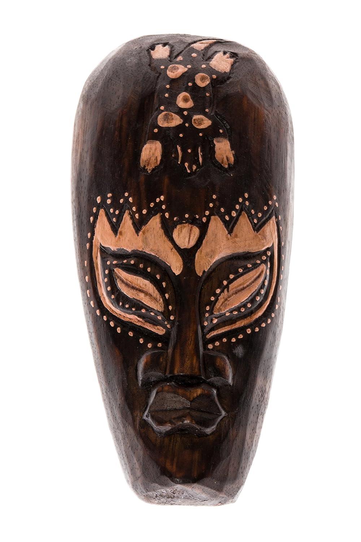 20cm Legno Mask Maschera arazzo scultura Figura Africa Gecko HM2000004 Ciffre