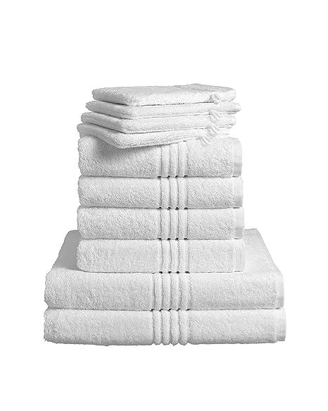De Witte Lietaer 173936 Luxury Hotel – Juegos de Toallas para baño de algodón (4