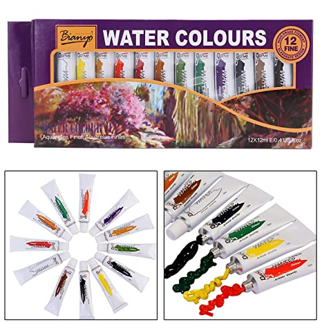 9c2a94d54eac Bianyo Artist Quality WATERCOLOR Tubes Paint Set - 12ml Tubes