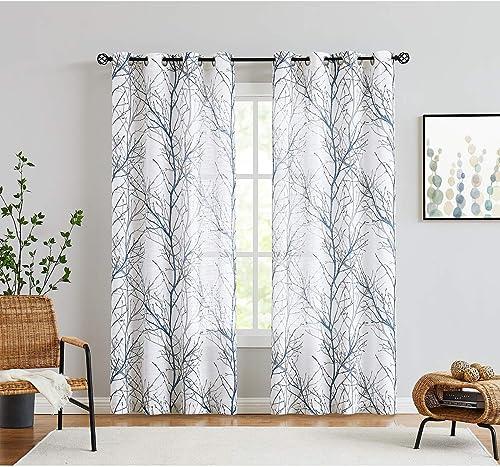 Fmfunctex Blue White Curtains 84