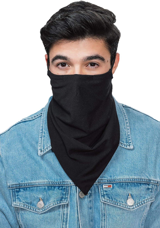 Unisex Bandana with Nose Wire Multifunctional Scarf Washable Breathable Beard Covering Bandana for Men women kids