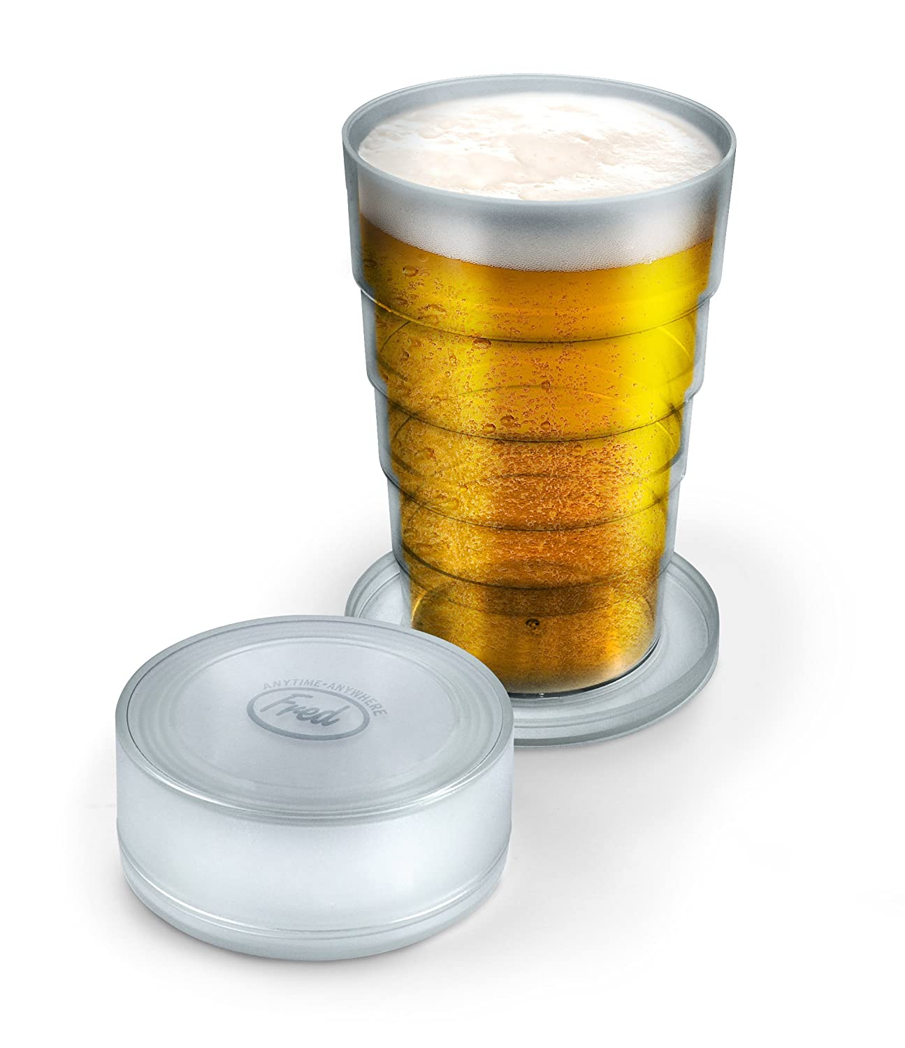 Fred PORT-A-PINT Collapsible Beer Glass, Clear PORTA
