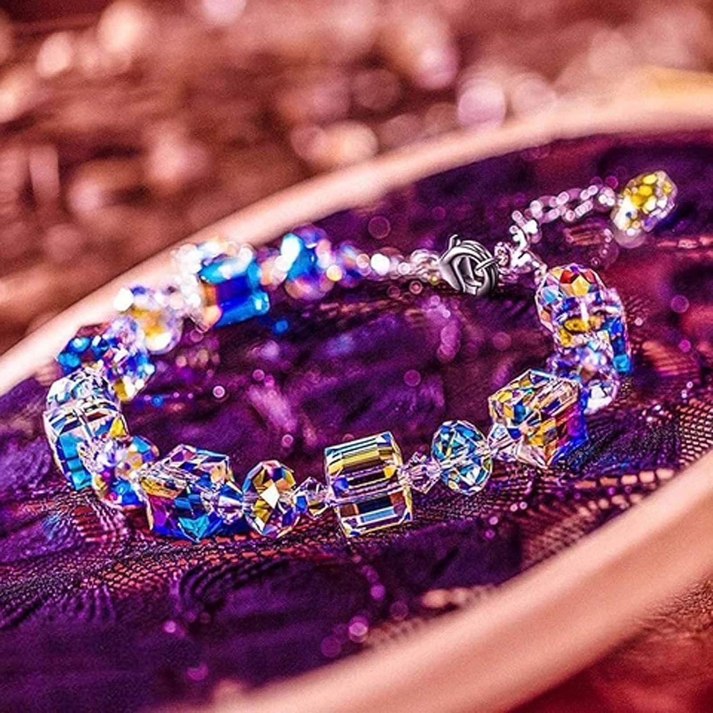 White, 1PC 3Pcs Northernlights Bracelet 925 Sterling Silver Jewelry Gifts Beaded Bracelets for Women Girls Mom Present