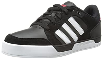 adidas NEO Men\u0027s Bbadidas NEO Raleigh L Sneaker, Black/White/Red, 8