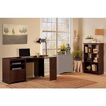 High Quality Buena Vista Corner Desk With Tall Storage Cabinet