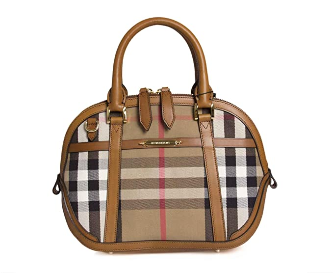 106a10a9023d Burberry Sartorial House Check Bowling Bag - Brown Ochre  Amazon.ca  Watches