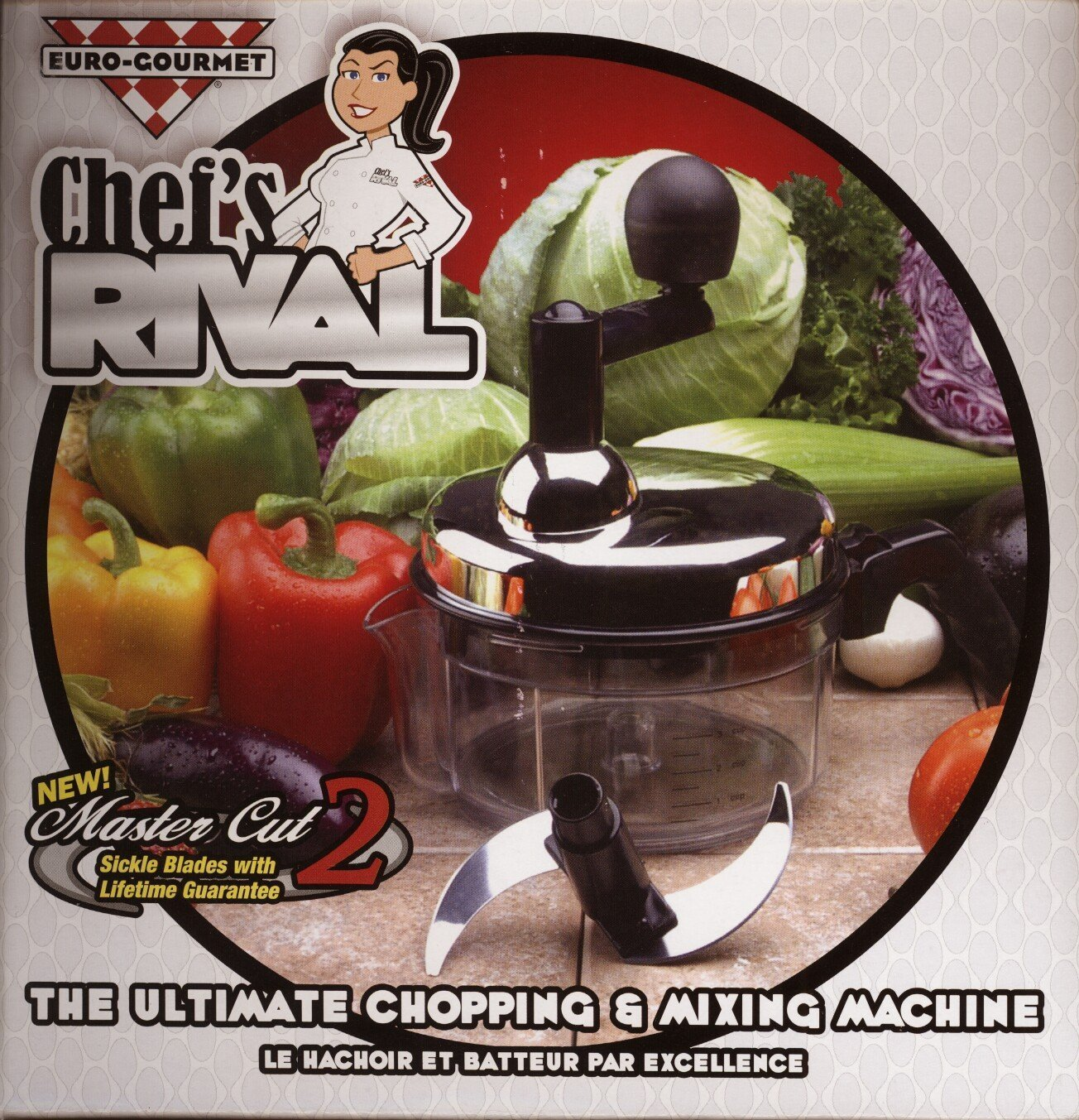 Chef's Rival Chopper - The Ultimate Euro-Gourmet Chopping & Mixing Machine by Chefs Rival